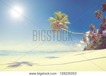 Beautiful scenic beach.