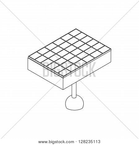 Solar battery icon in isometric 3d style on a white background