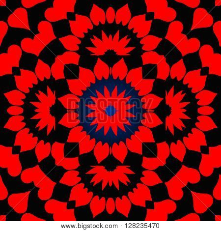 Decorative colorfull element. Geometric pattern in the square
