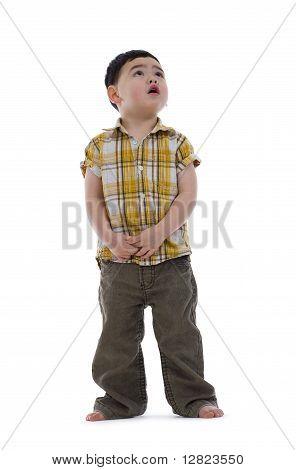 Frightened Little Boy Up