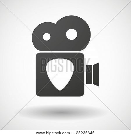 Isolated Cinema Camera Icon With A Plectrum