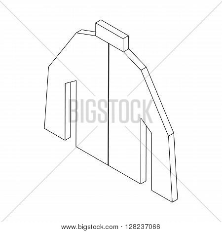 Paintball protective jacket icon in isometric 3d style isolated on white background