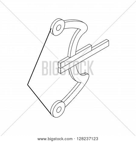 Archery paintball weapon icon in isometric 3d style isolated on white background