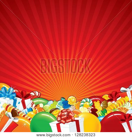 Festive Birthday Background Template. Ready for Your Text and Design.