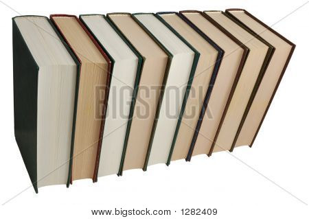Stack Of Books Isolated On White With Clipping-Path Included