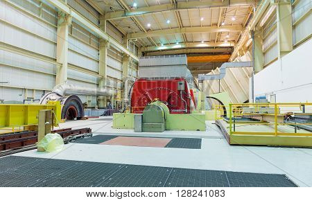 Turbine and Generator in a Natural Gas power plant