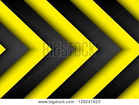 Abstract vector modern background with black and yellow lines