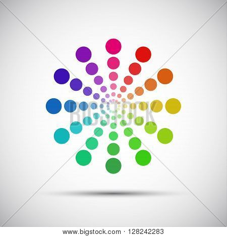 Color palette of wheels on a gray background vector illustration