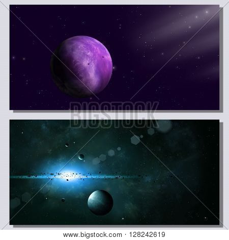 Abstract Space Banners