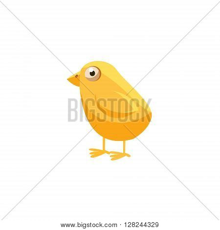 Chichk Simplified Cute Illustration In Childish Flat Vector Design Isolated On White Background