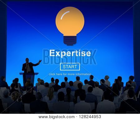 Expertise Light Bulb Icon Interface Concept