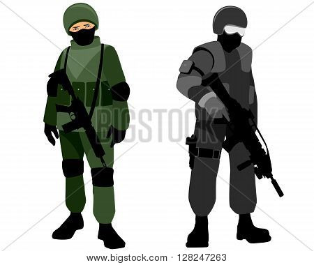 Vector illustration of a special forces soldiers