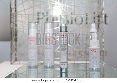ZAGREB, CROATIA - APRIL 26th, 2016: Avene PhysioLift new product line presented in Zagreb, product shot