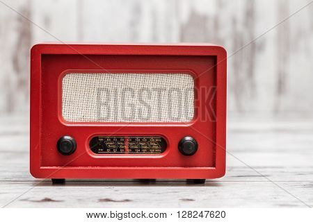 Red Radio With Retro Look