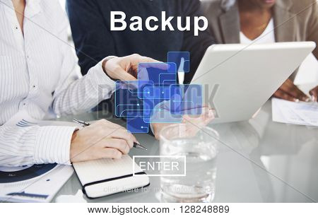 Backup Data Storage Restore Database Concept