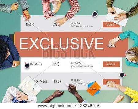 Exclusive Deal Discount E-commerce Shopping Concept