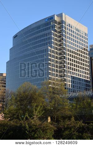 WASHINGTON, DC - APR 16: Deloitte office in Washington, DC, as seen on Apr 16, 2016. Deloitte is one of the Big Four professional services firms in the world and the largest by revenue and employees.