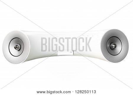 White design mobile phone speaker isolated on white background