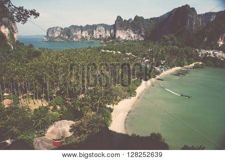Sea Beach Travel Vacation Tropical Tourism Concept