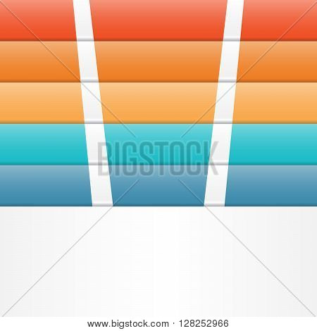 Colour strips for template infographic five position