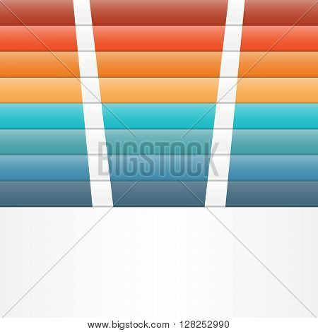 Colour strips for template infographic eight position