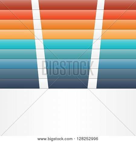 Colour strips for template infographic nine position