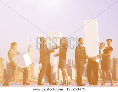 Group Office Workers New York Concept