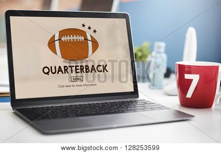 Quaterback American Football Athlete Game Concept