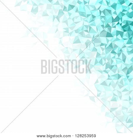 Cyan irregular triangle mosaic vector background design
