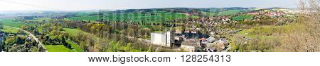 Panorama Village and fields in Germany