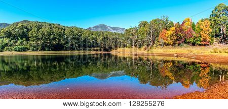 From lake view of mount Bogong