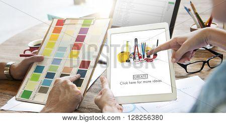 Instrument Equipment Tools Set Work Concept