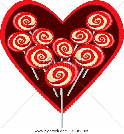 Image of Sweet heart shape lollipop