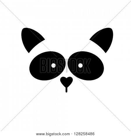Raccoon. Raccoon logo. Isolated raccoon head on white background. Raccoon mascot idea for logo, emblem, symbol, icon. Vector illustration.