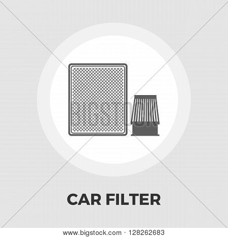 Automotive filter icon vector. Flat icon isolated on the white background. Editable EPS file. Vector illustration.