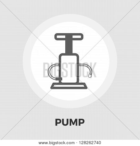 Pump icon vector. Flat icon isolated on the white background. Editable EPS file. Vector illustration.