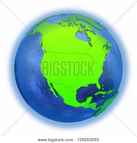 North America On Green Earth