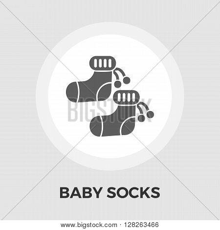 Children socks Icon Vector. Flat icon isolated on the white background. Editable EPS file. Vector illustration.
