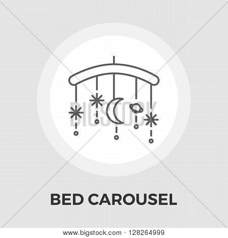 Bed carousel icon vector. Flat icon isolated on the white background. Editable EPS file. Vector illustration.