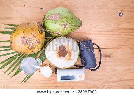 Fresh Coconut Juice Helps To Lower Blood Pressure And Hypertension