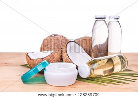 Cold Pressed Extra Virgin Coconut Oil In Bottles And Jar