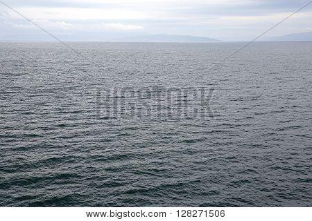 Water Surface of Adriatic Sea in Kvarner Bay Croatia