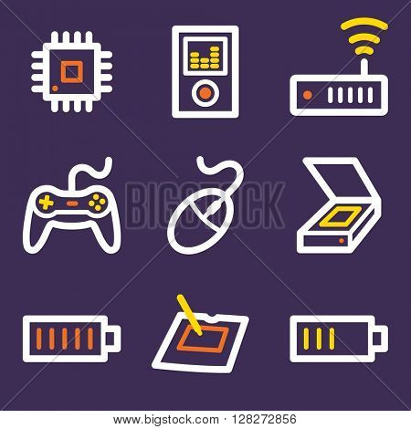Electronics web icons