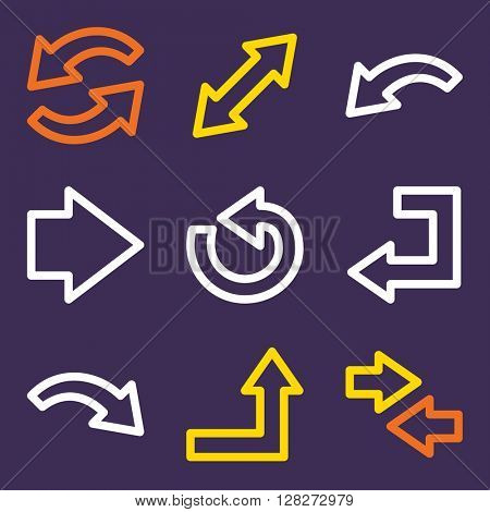 Arrows icon, next step vector web sign. Go icon flat. Design mobile icon, vector pictogram. Business infographics symbols.