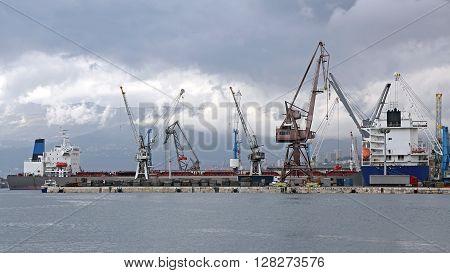 Shipyard Crane in Port of Rijeka Croatia