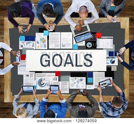 Goals Inspiration Target Motivation Mission Aim Concept