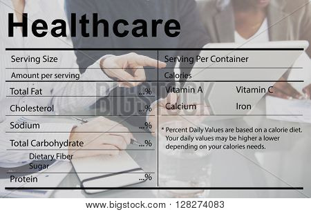Healthcare Ingredients Welness Welbeing Nutrition Concept