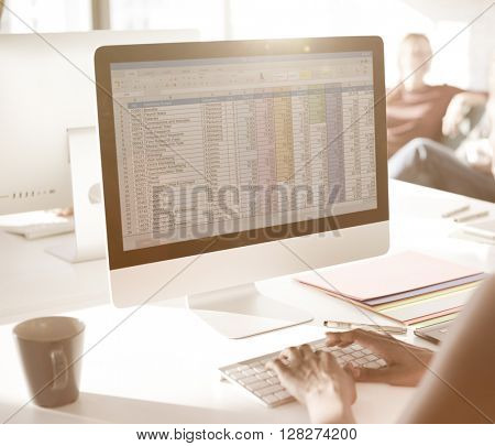 Contemporary Corporate Digital Technology Data Concept