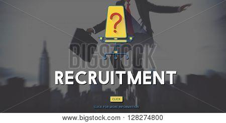 Recruitment Human Resources Hiring Concept