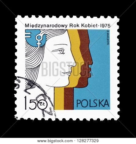 POLAND - CIRCA 1975 : Cancelled postage stamp printed by Poland, that shows Emblem.
